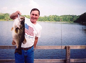 14 lb 4 oz bass from Lake Ely